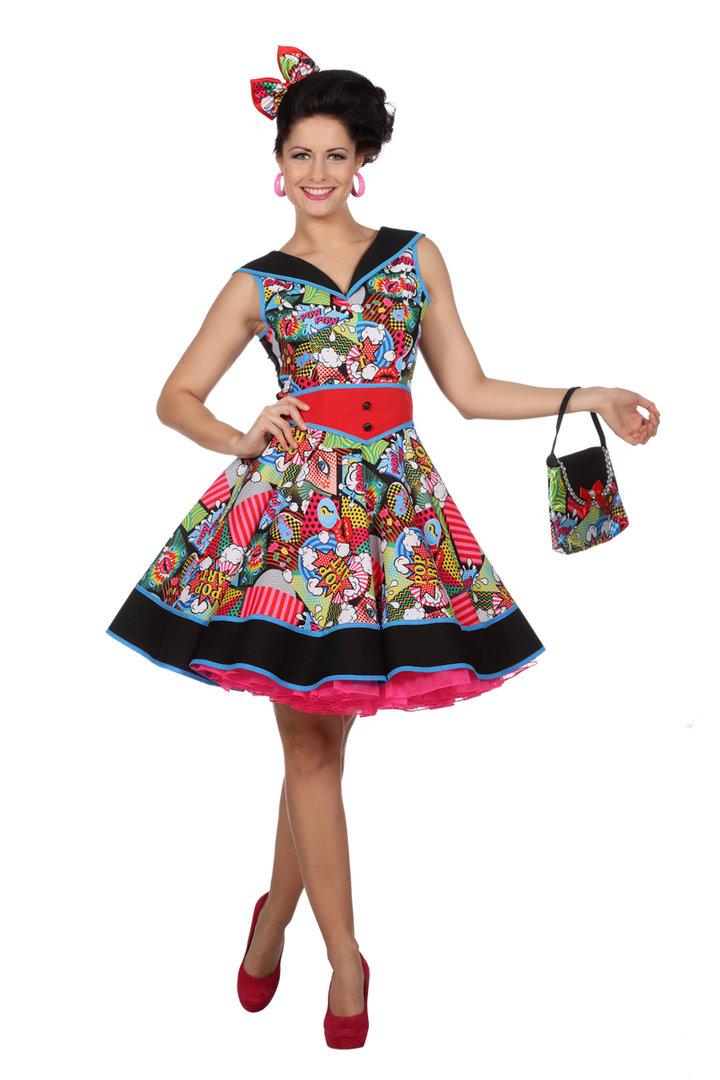 Damenkleid Pop Art Karnevalkostum Faschingskostum